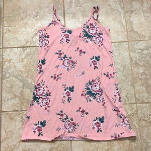 Woman's pink Floral Spaghetti Strap Dress